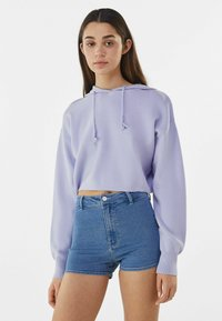 Bershka - Denim shorts - blue denim - 0
