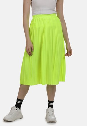 ROCK - A-line skirt - neon gelb