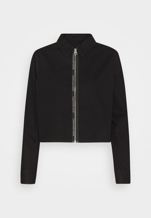 CROPPED ZIP FRONT  - Skjorte - black