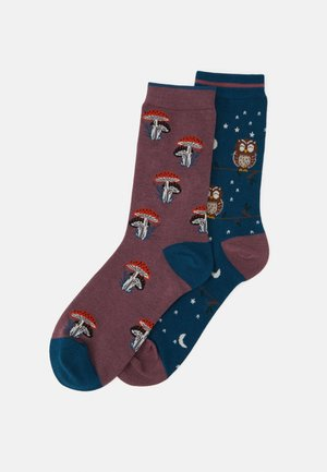 GERTIE 2 PACK - Socks - dusty pink/teal blue