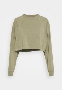 Cotton On Body - LIFESTYLE CROP RAGLAN  - Sweatshirt - oregano marle - 0