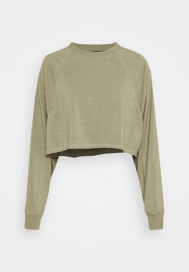 Cotton On Body - LIFESTYLE CROP RAGLAN  - Sweatshirt - oregano marle