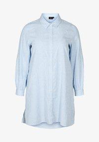 Zizzi - Button-down blouse - skyway stripe - 3