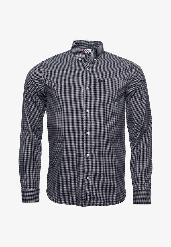 Superdry CLASSIC UNIVERSITY OXFORD - Koszula - inverse gingham black/czarny Odzież Męska IUSM