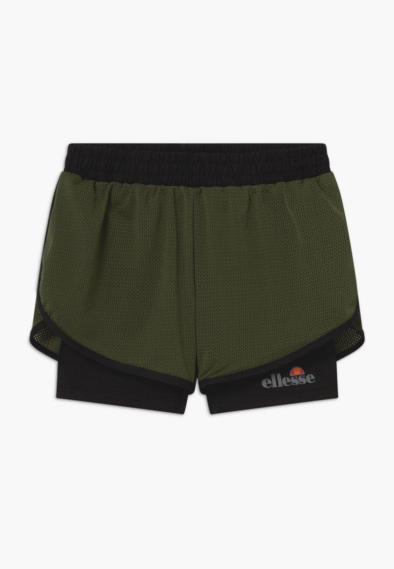 Ellesse - ARINO 2-IN-1 - Sports shorts - black/khaki