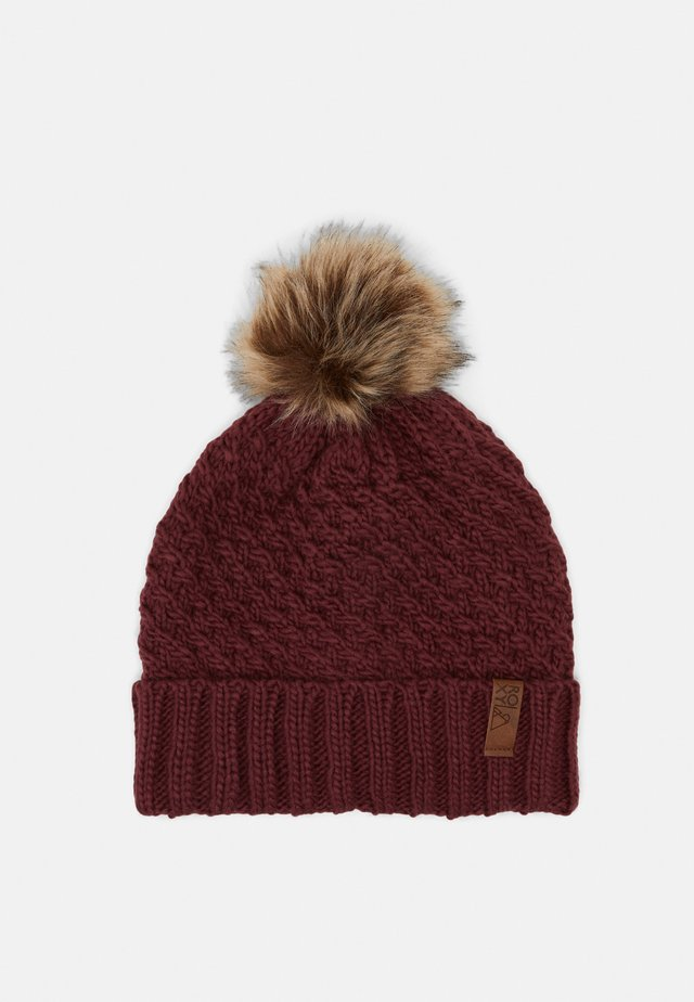 BLIZZARD BEANIE - Pipo - oxblood red