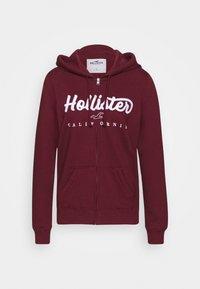Hollister Co. - Mikina na zip - burgundy - 3