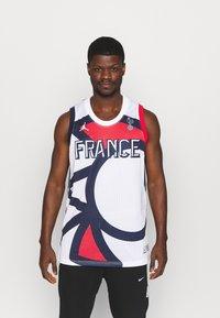Jordan - FRANCE JUMPAN - T-shirt med print - white/college navy/university red - 0