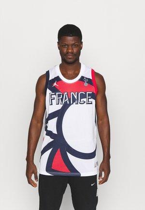 FRANCE JUMPAN - T-shirt med print - white/college navy/university red
