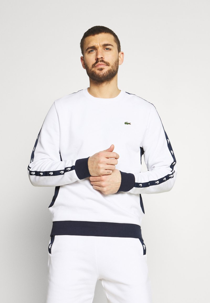 Lacoste Sport - TAPERED - Sweatshirt - white/navy blue