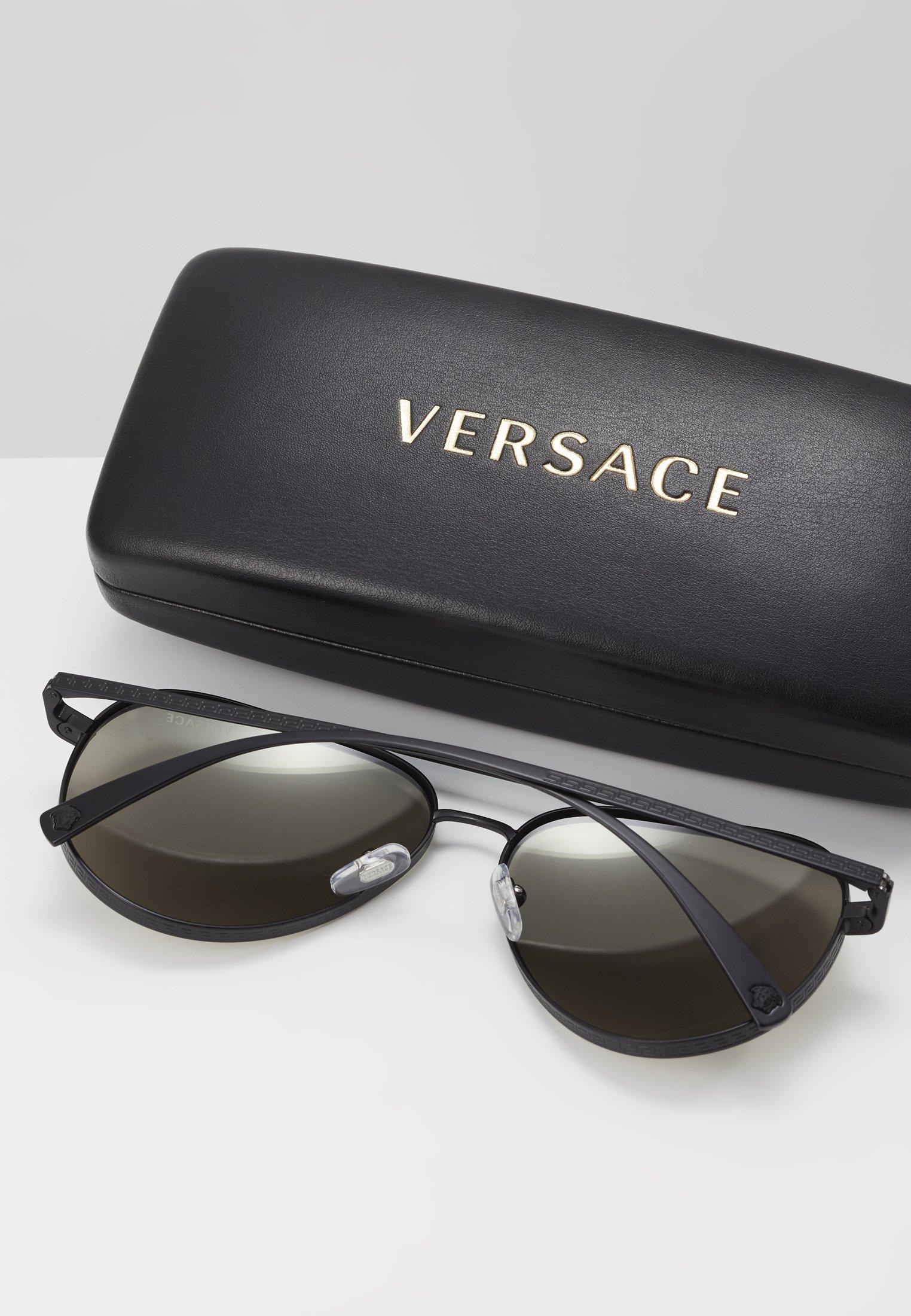Versace Solbriller - matte black/svart Z4Nqjf5pAKvjtS1
