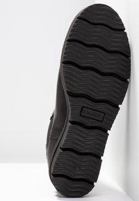 Bianco - CLEATED  - Platåstøvletter - black - 6
