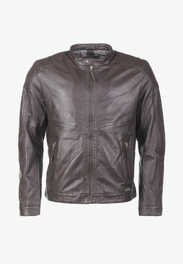 Lederjacke - dark brown
