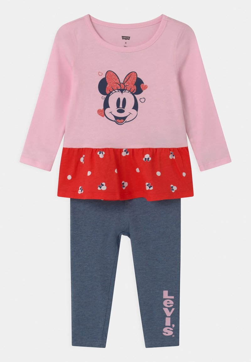 Levi's® - PEPLUM SET - Leggings - Trousers - pink lady