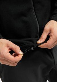 Haglöfs - BUNGY HOOD - Fleece jacket - true black - 3