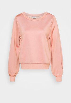 HIGH CREW NECK LONG VOLUME SLEEVE WITH DARTS TOWARD - Sweatshirt - winter rose