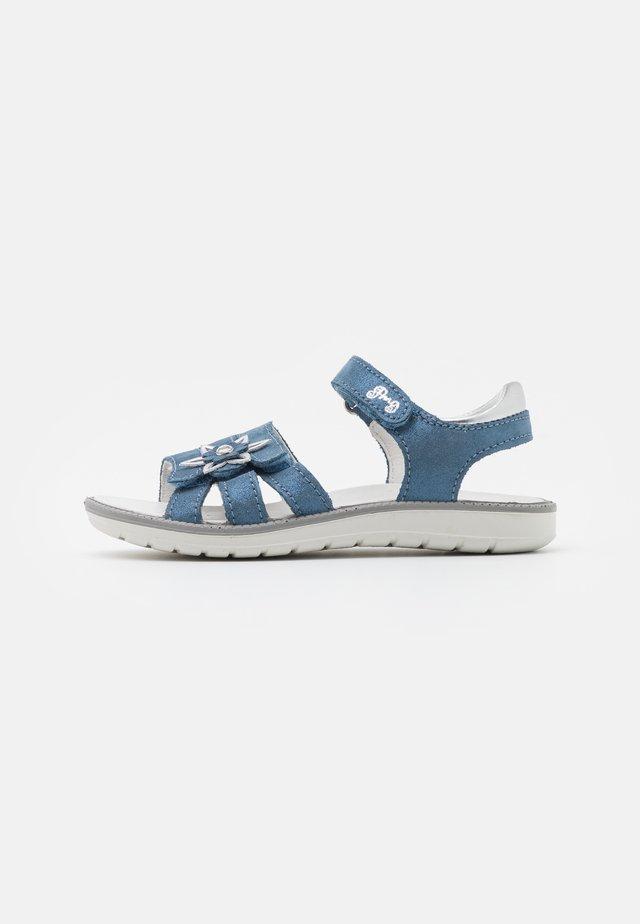 Sandalen - azzurro/argento
