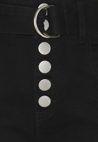 Glamorous Petite - CROPPED WITH BELT - Relaxed fit jeans - black wash - 2