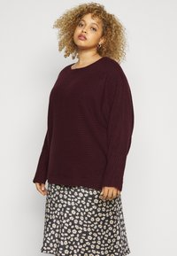New Look Curves - EXPOSED SEAM CASH BAWTING - Jumper - dark burgundy - 0