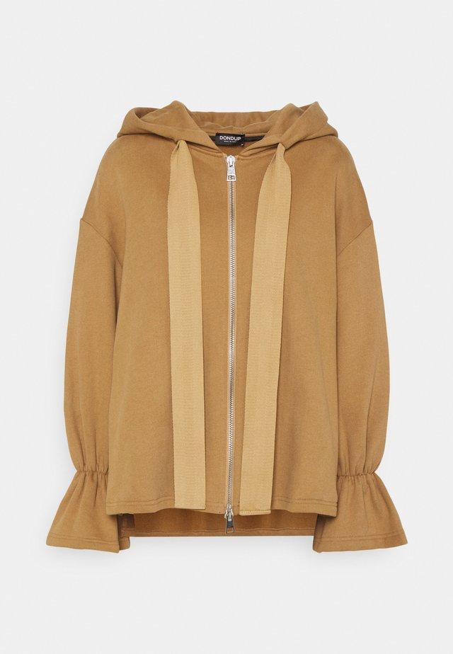 HOODIE - Zip-up sweatshirt - camel