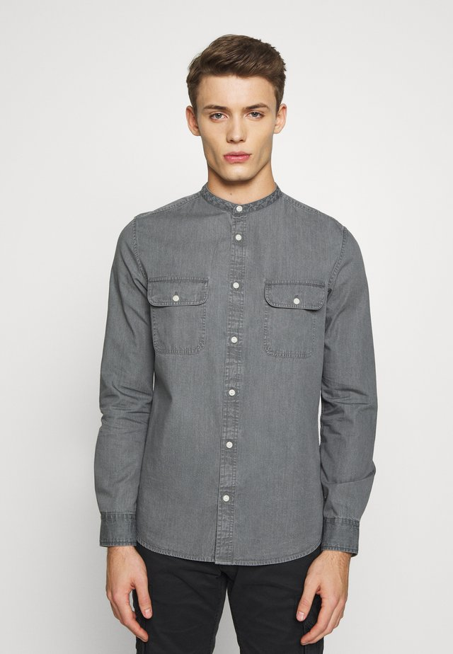 LONG SLEEVE GRANDAD - Košile - mid grey