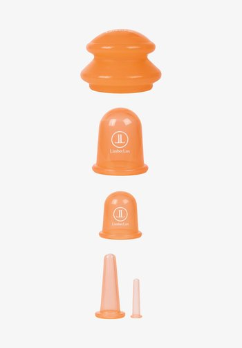 CUPPING CUPS MASSAGE SET - Skincare tool - coral