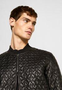 Emporio Armani - BLOUSON - Leather jacket - black - 4