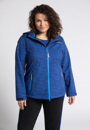 Soft shell jacket - dark blue multi
