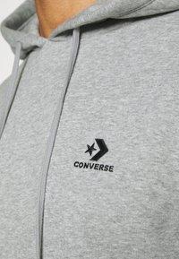 Converse - STAR CHEVRON  - Jersey con capucha - mottled grey - 5