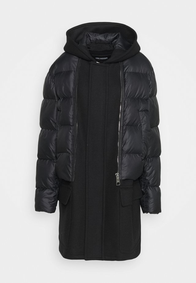 HYBRID PUFFER DUFFLE COAT - Winter coat - black