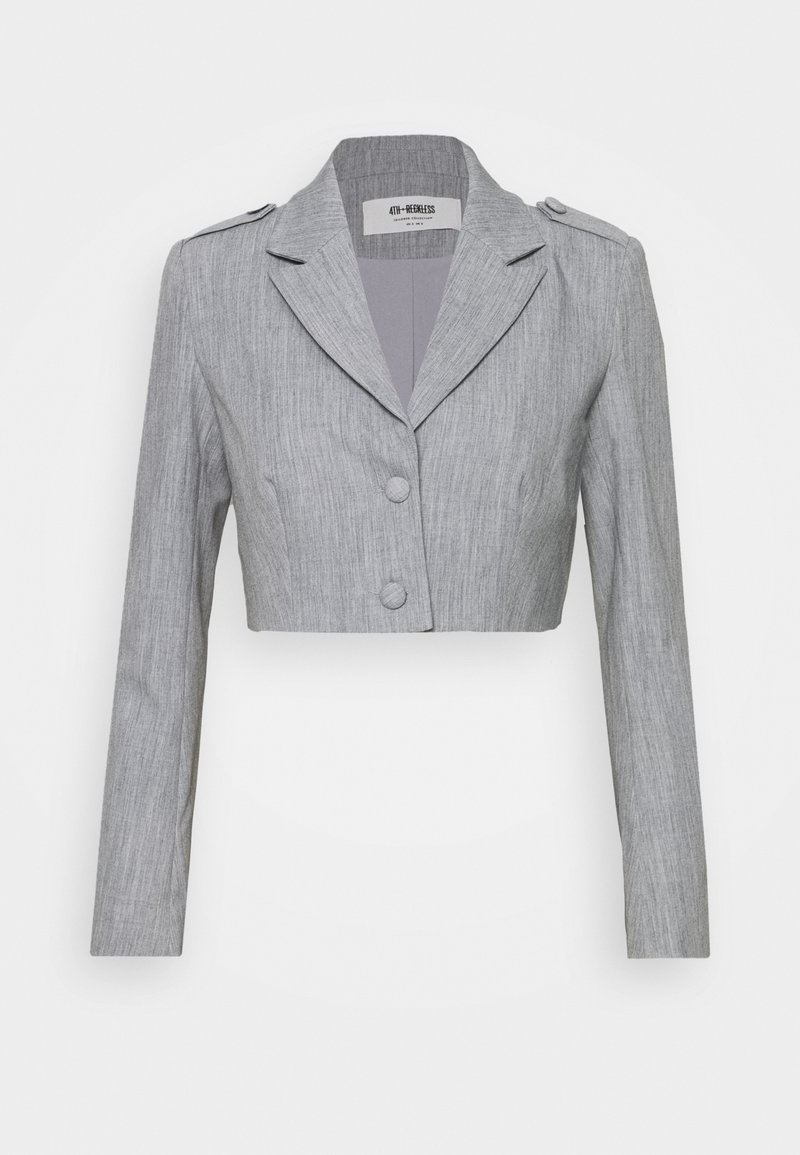 4th & Reckless - RAFFI CROPPED BLAZER - Blazer - grey