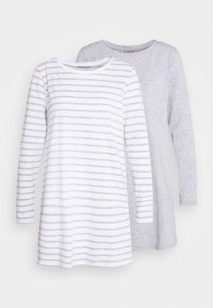 2 PACK - Pyjama top - light grey