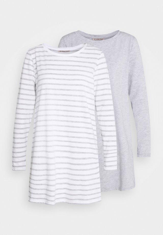 2 PACK - Pyžamový top - light grey