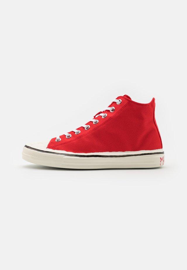 Sneakers hoog - flamingo/white