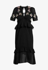 Hope & Ivy Petite - PEPLUM WAIST MIDI DRESS WITH  - Vestito elegante - black - 5