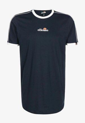 T SHIRT RIESCO - T-shirt imprimé - navy