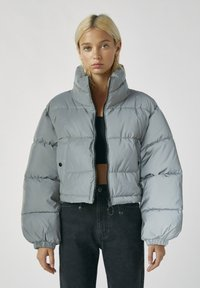 PULL&BEAR - Winter jacket - metallic grey - 0