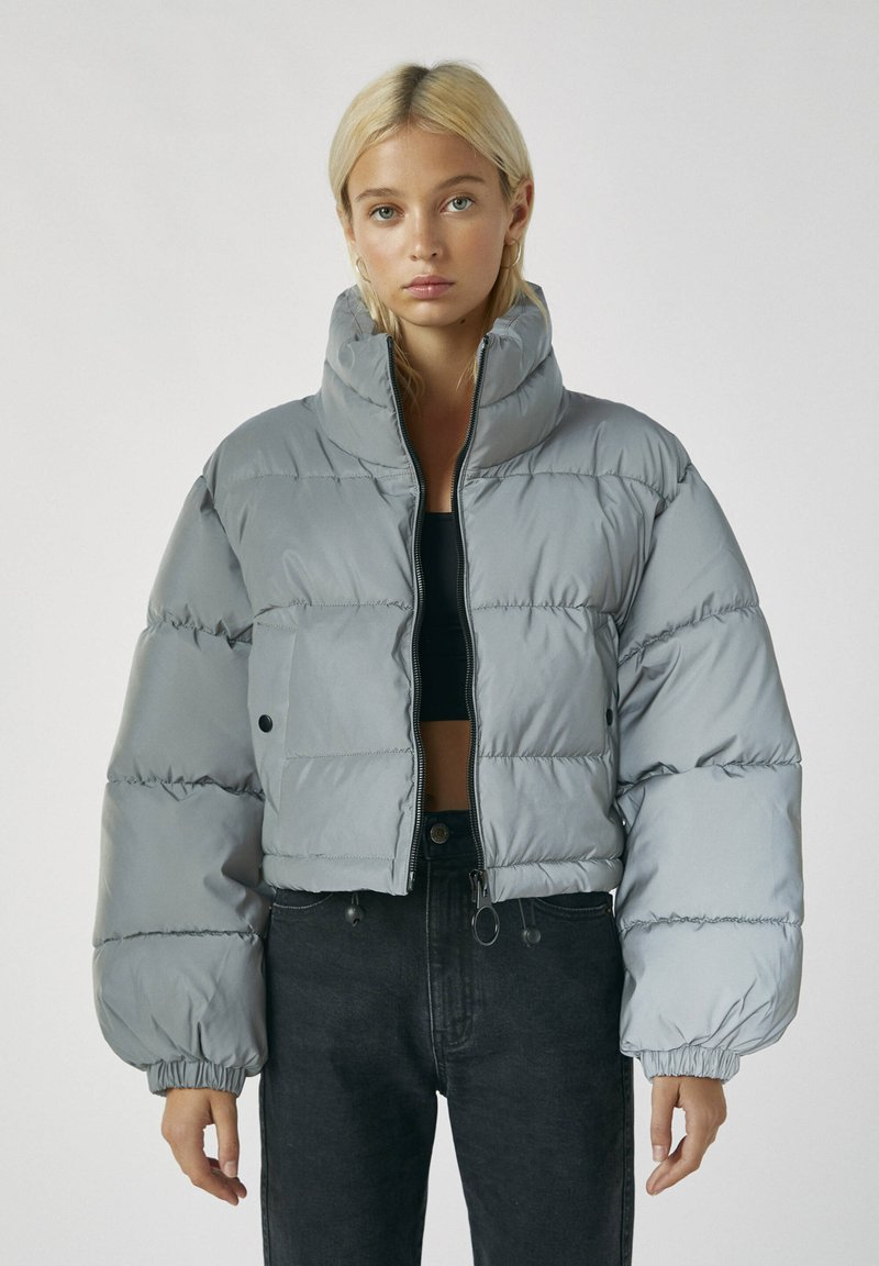 PULL&BEAR - Winter jacket - metallic grey