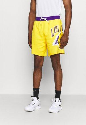 NBA LOS ANGELES LAKERS SHORT - Krótkie spodenki sportowe - amarillo/field purple/white