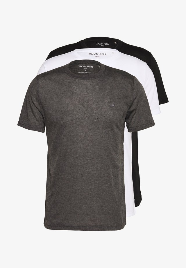 HARLEM TECH 3 PACK - T-shirt basique - black/white/charcoal