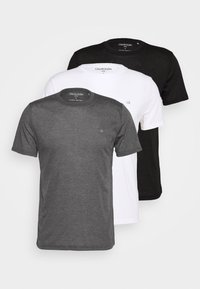 Calvin Klein Golf - 3 PACK - T-shirt basic - black/white/charcoal - 5