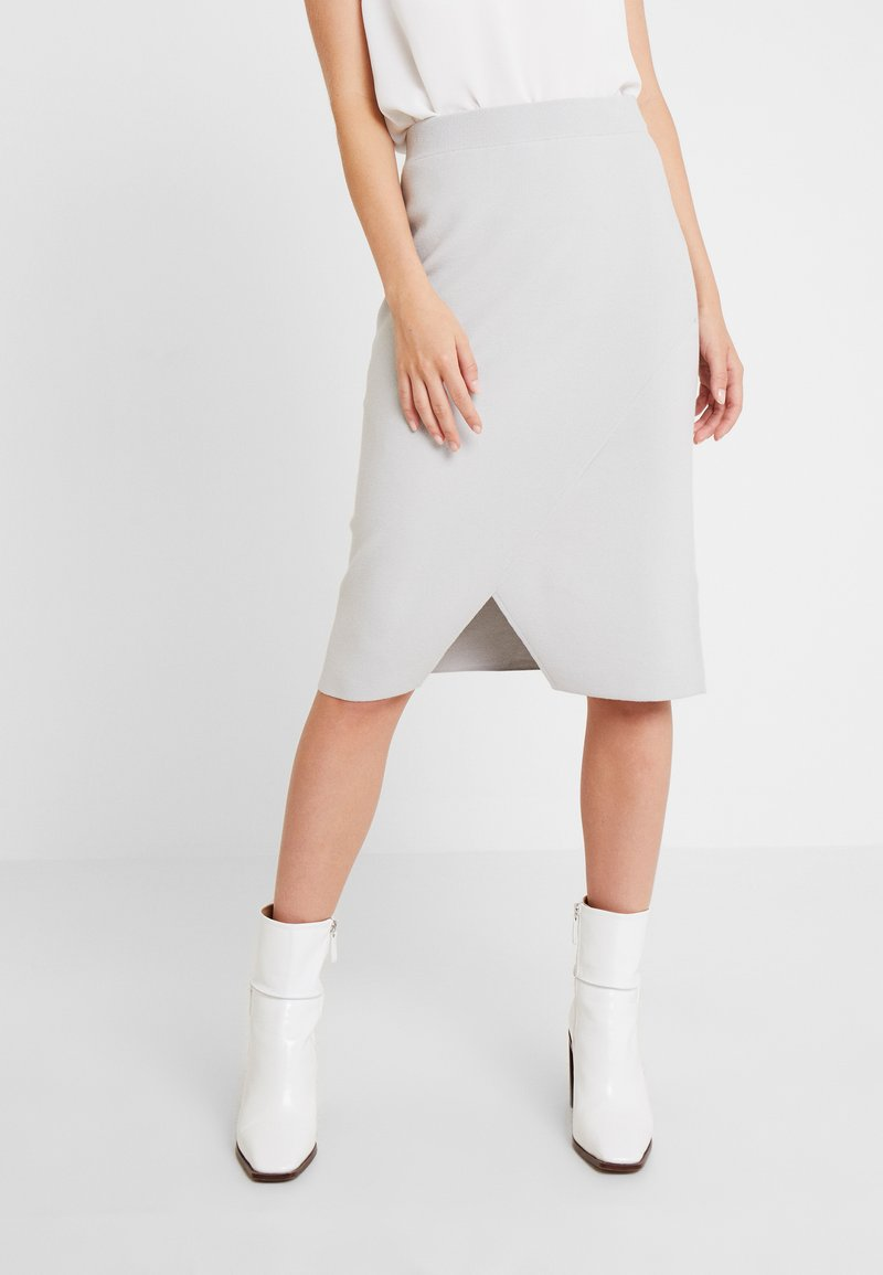 Marc O'Polo PURE - SKIRT STAIGHT FIT LENGTH - Blyantnederdel / pencil skirts - cement grey