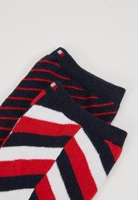 Tommy Hilfiger - WOMEN SOCK HERRINGBONE 2 PACK - Socks - navy/red - 2