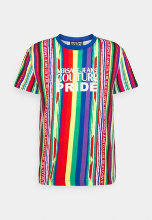 STRETCH PRINT STRIPES - T-shirt print - multicolor chiari