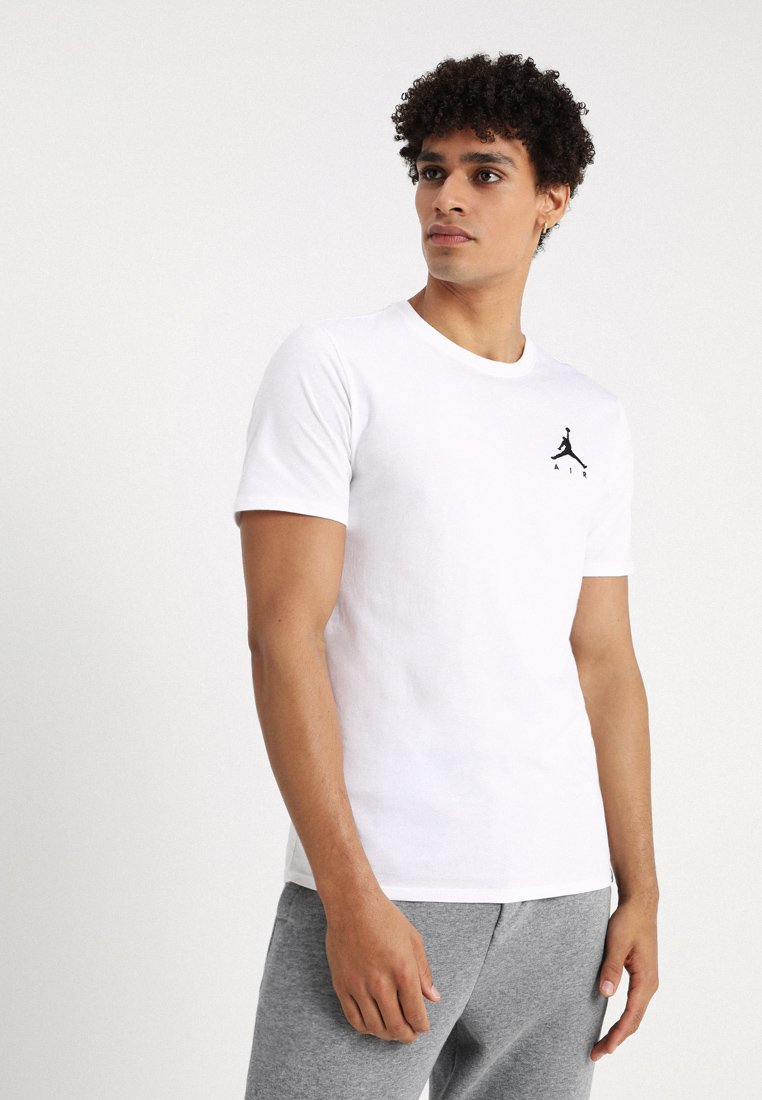 Jordan - JUMPMAN AIR TEE - Jednoduché triko - white/black
