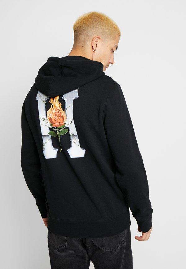 HUF EMBER ROSE CLASSIC HOODIE - Bluza z kapturem - black/czarny Odzież Męska SYOT