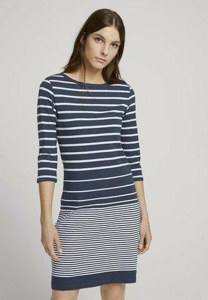 Robe en jersey - blue gradient stripe