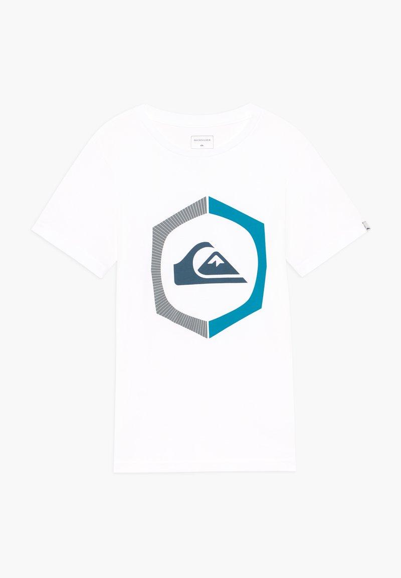 Quiksilver - SURE THING - Print T-shirt - white