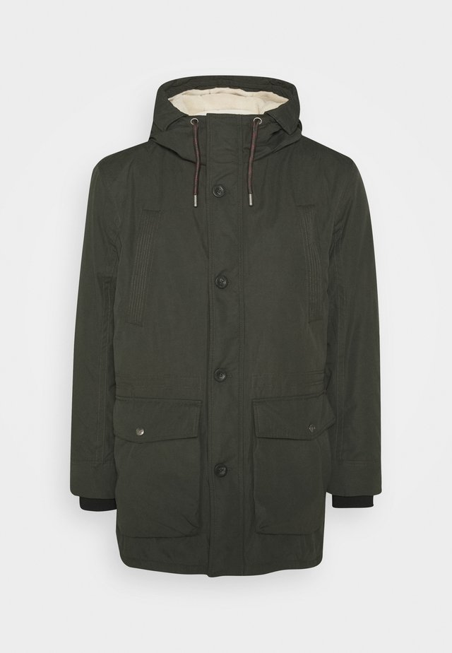 WITH HOOD - Parka - shadow olive