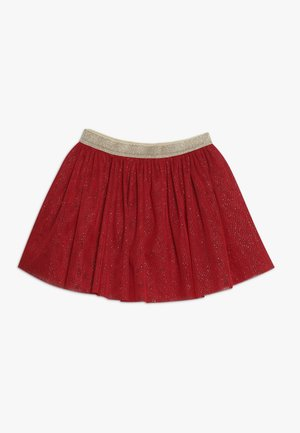 COLOMBIE - A-line skirt - dark red